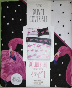 Reversible Flamingo Duvet Set - Primark