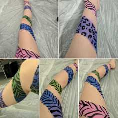 Animal Print Paint Own Leg