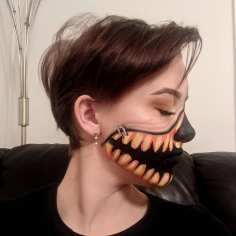 Illusion Pumpkin Face Paint