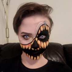 Illusion Pumpkin Face Paint