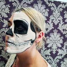 Client Half Skull Face Paint
