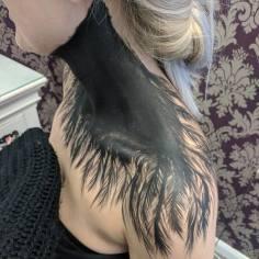 Client Black Swan Feather Paint