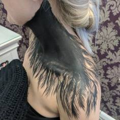 Client Black Swan Feather Paint
