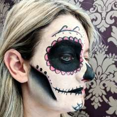 Client Half Sugar Skull Face paint
