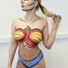 Pop Art Bodypaint - Collab with Chanel Ranyard MUA - Model Jaye Potter