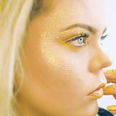 Yellow & Gold Colour Photographic Make Up - Chanel